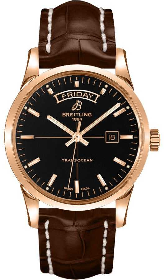 Breitling Transocean Day Date R4531012/BB70-739P Black USA - GOOFASH - Mens JEWELRY