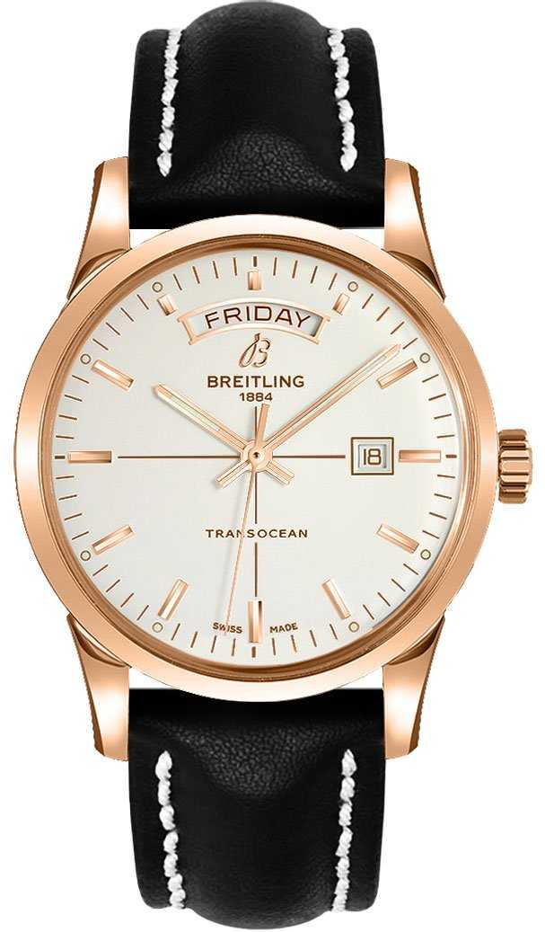 Breitling Transocean Day Date R4531012/G752-435X Silver USA - GOOFASH - Mens JEWELRY