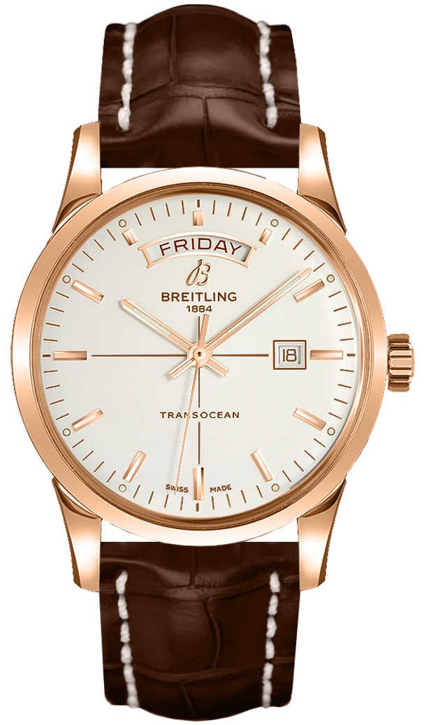 Breitling Transocean Day Date R4531012/G752-737P Silver USA - GOOFASH - Mens JEWELRY