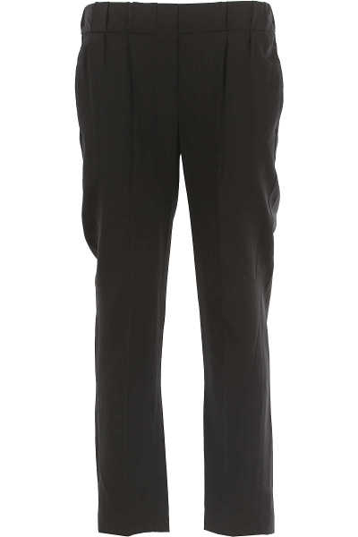 Brunello Cucinelli Pants for Women in Outlet Black Canada - GOOFASH - Womens TROUSERS