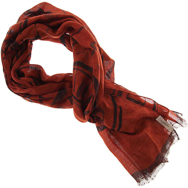 Burberry Scarf for Women Dark Orange Canada - GOOFASH - Womens SCARFS