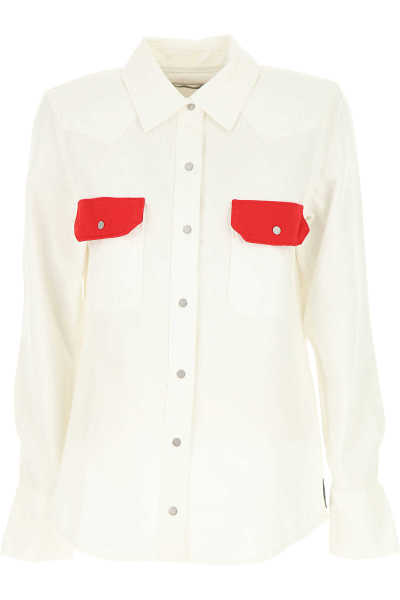 Calvin Klein Shirt for Women in Outlet White Canada - GOOFASH - Womens SHIRTS