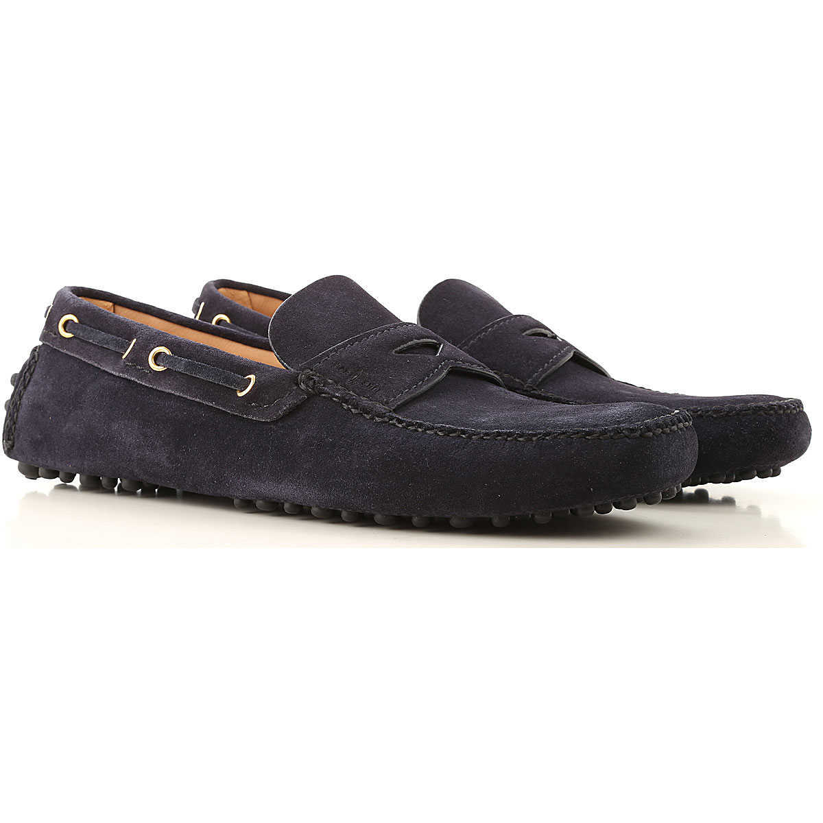 Car Shoe Driver Loafer Shoes for Men Navy Blue Canada - GOOFASH - Mens LOAFERS