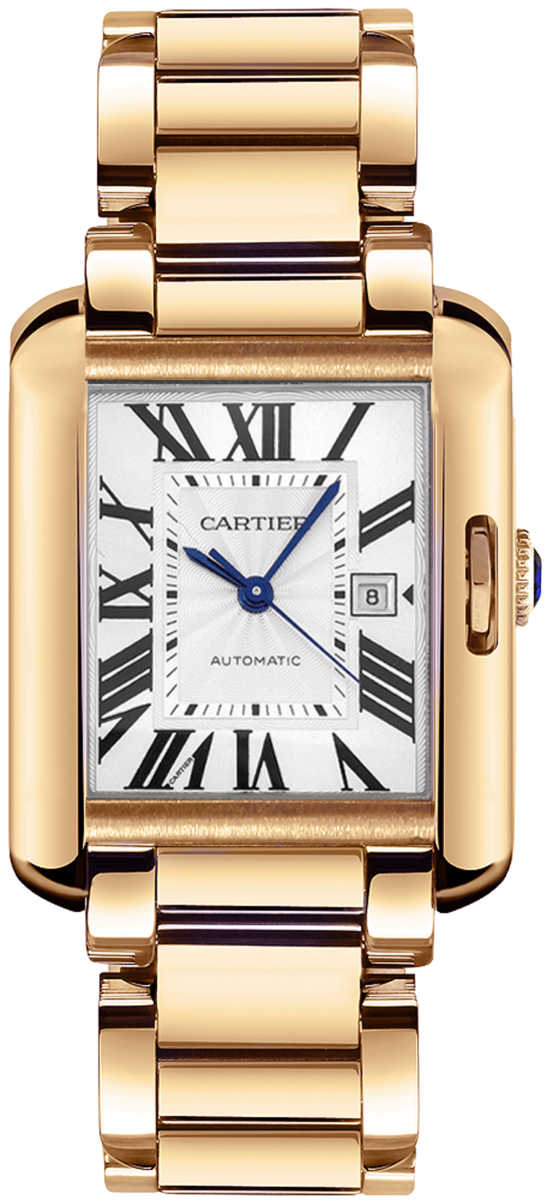 Cartier Tank Anglaise Solid 18k Rose Gold Women's Luxury Watch W5310003 Silver USA - GOOFASH - Womens WATCHES