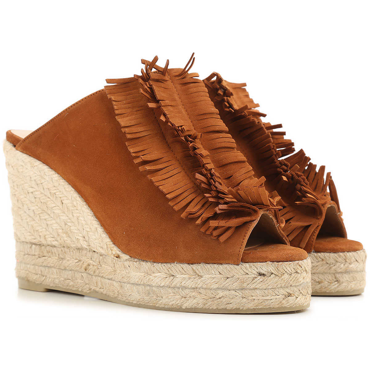 Castaner Wedges for Women in Outlet Rust Canada - GOOFASH - Womens HOUSE SHOES