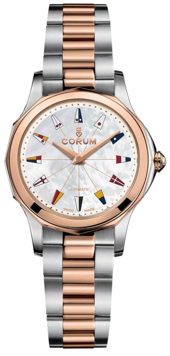Corum Admiral Legend 32 Automatic Women's Watch 400.100.24/V200 PN13 White Mother Of Pearl USA - GOOFASH - Womens WATCHES