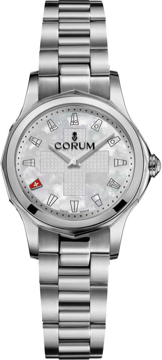Corum Admiral Legend 32 White Dial Women's Watch 400.101.20/V200 PN01 White Mother Of Pearl USA - GOOFASH - Womens WATCHES