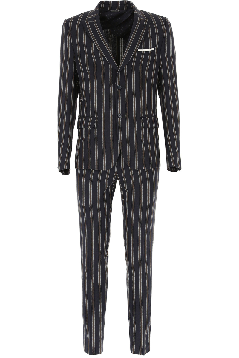 Daniele Alessandrini Men's Suit Dark Blue Canada - GOOFASH - Mens SUITS
