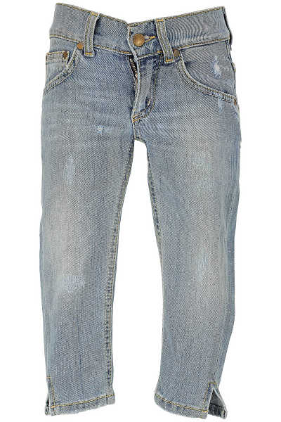 Dondup Kids Jeans for Girls in Outlet Blue Denim Canada - GOOFASH - Womens JEANS