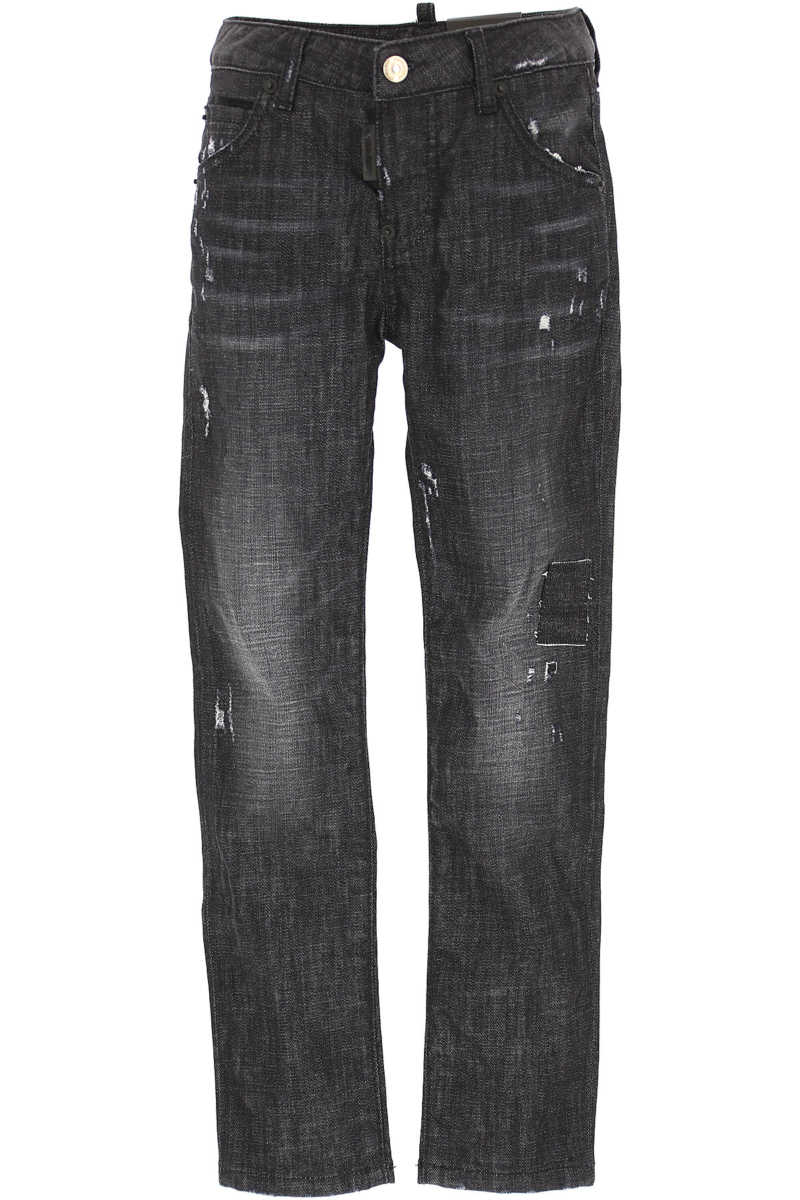 Dsquared2 Kids Jeans for Girls in Outlet Black Denim Canada - GOOFASH - Womens JEANS
