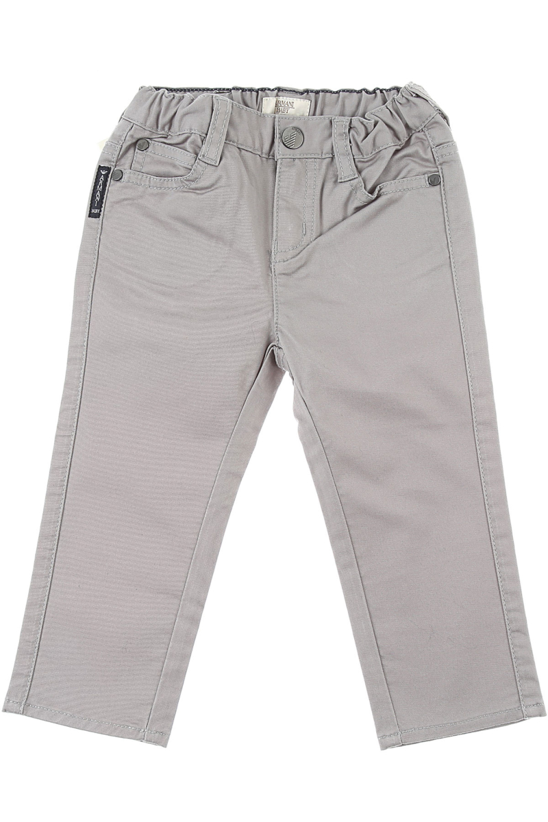 Emporio Armani Baby Pants for Boys in Outlet Grey Canada - GOOFASH - Mens TROUSERS