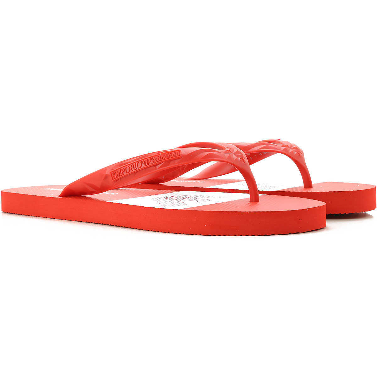 Emporio Armani Flip Flops for Men Red Canada - GOOFASH - Mens SLIPPERS