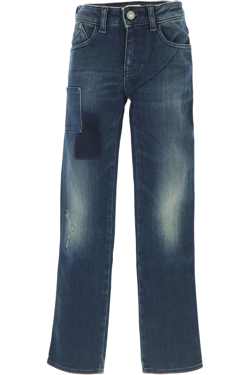 Emporio Armani Kids Jeans for Girls in Outlet Blue Canada - GOOFASH - Womens JEANS