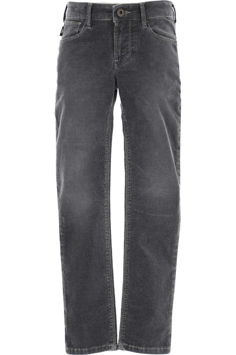 Emporio Armani Kids Pants for Boys in Outlet Grey Canada - GOOFASH - Mens TROUSERS