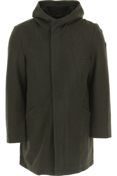 Emporio Armani Men's Coat in Outlet Military Green Canada - GOOFASH - Mens COATS