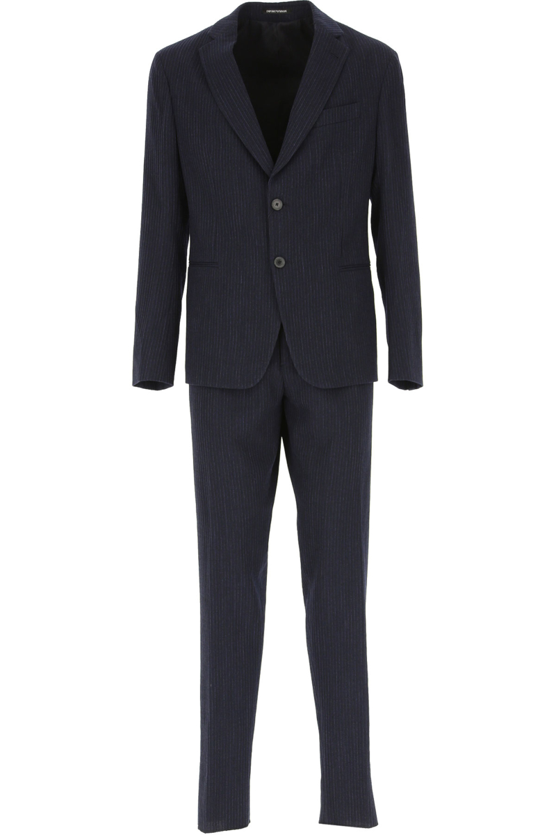 Emporio Armani Men's Suit Navy Blue Canada - GOOFASH - Mens SUITS