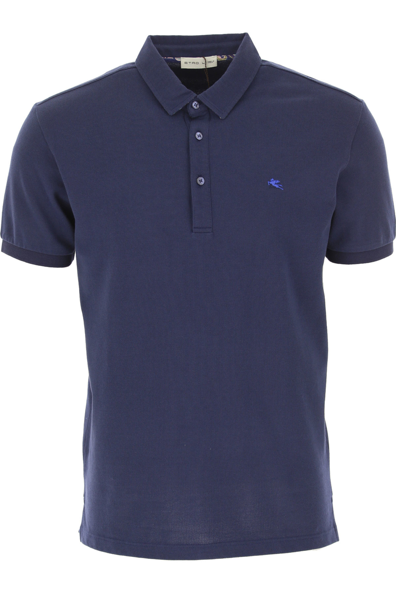 Etro Polo Shirt for Men Dark Blue Canada - GOOFASH - Mens POLOSHIRTS