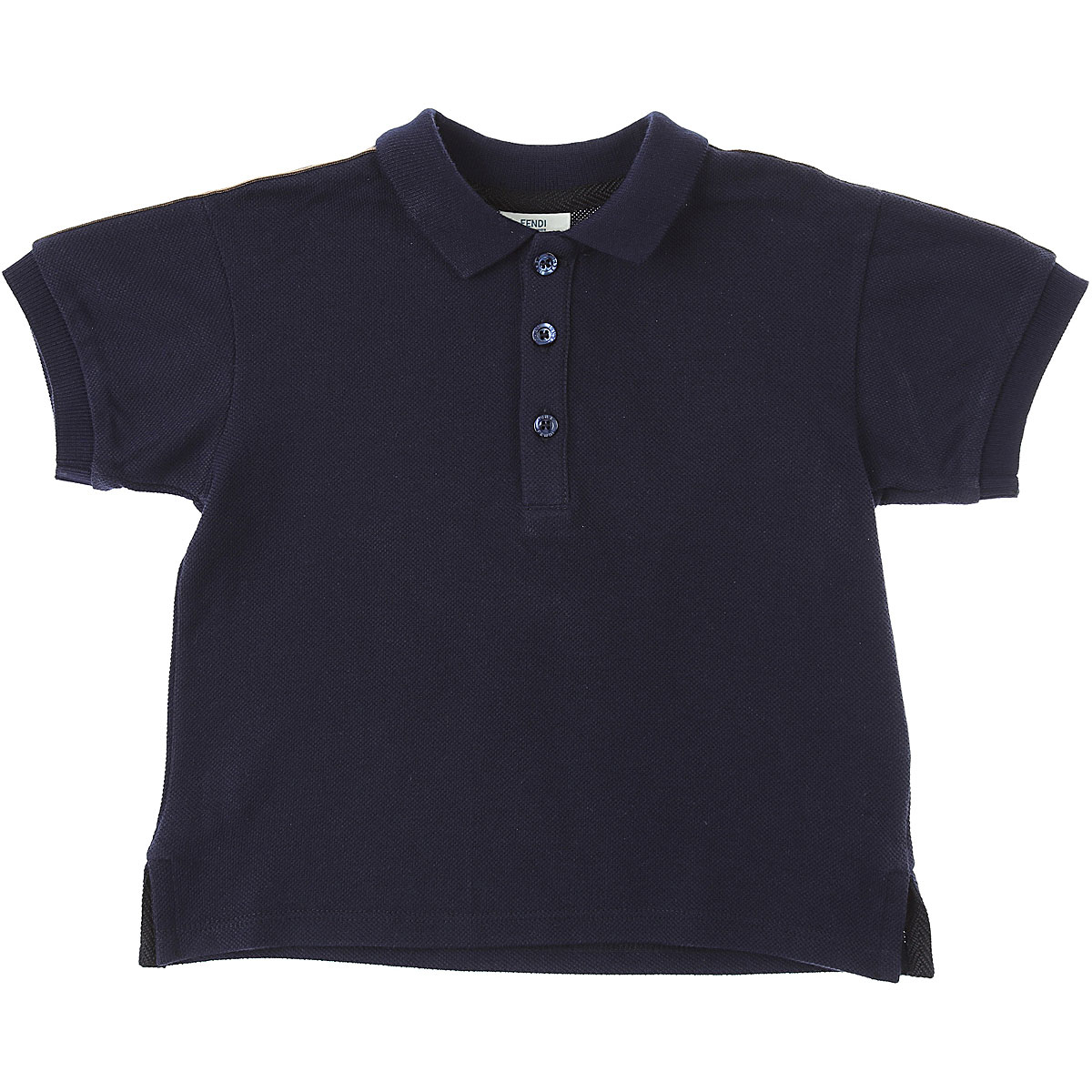 Fendi Baby Polo Shirt for Boys Blue Canada - GOOFASH - Mens POLOSHIRTS