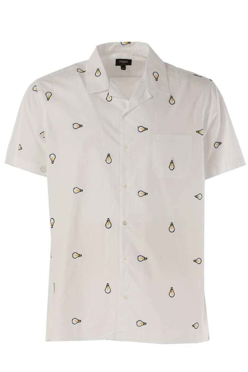 Fendi Shirt for Men in Outlet White Canada - GOOFASH - Mens SHIRTS