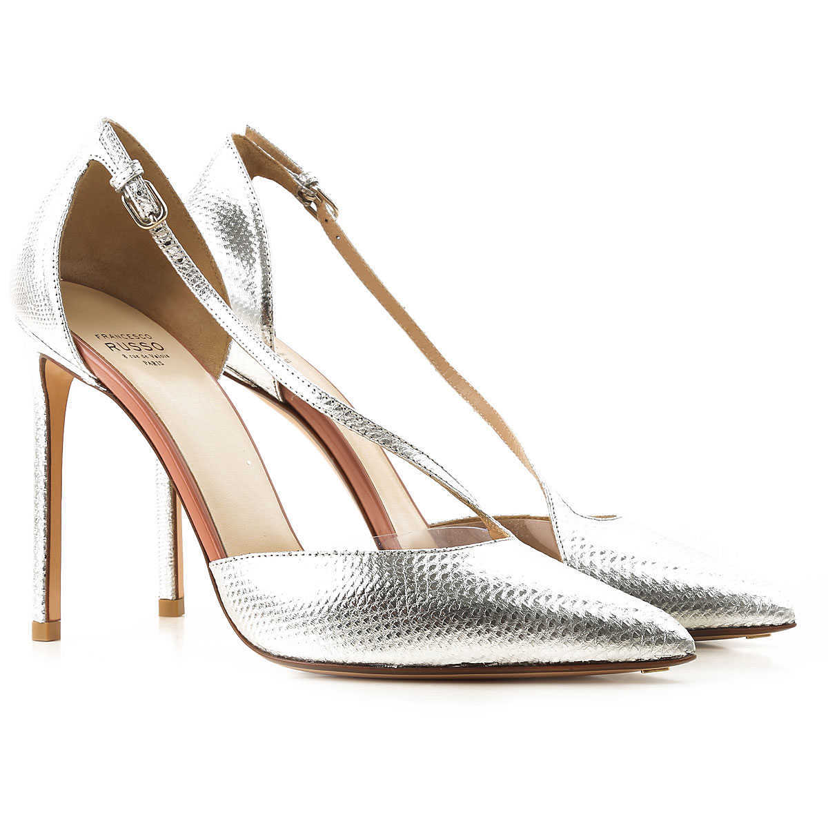Francesco Russo Pumps & High Heels for Women in Outlet Silver Canada - GOOFASH - Womens PUMPS