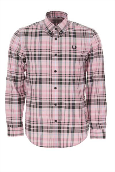 Fred Perry Shirt for Men Light Pink Canada - GOOFASH - Mens SHIRTS