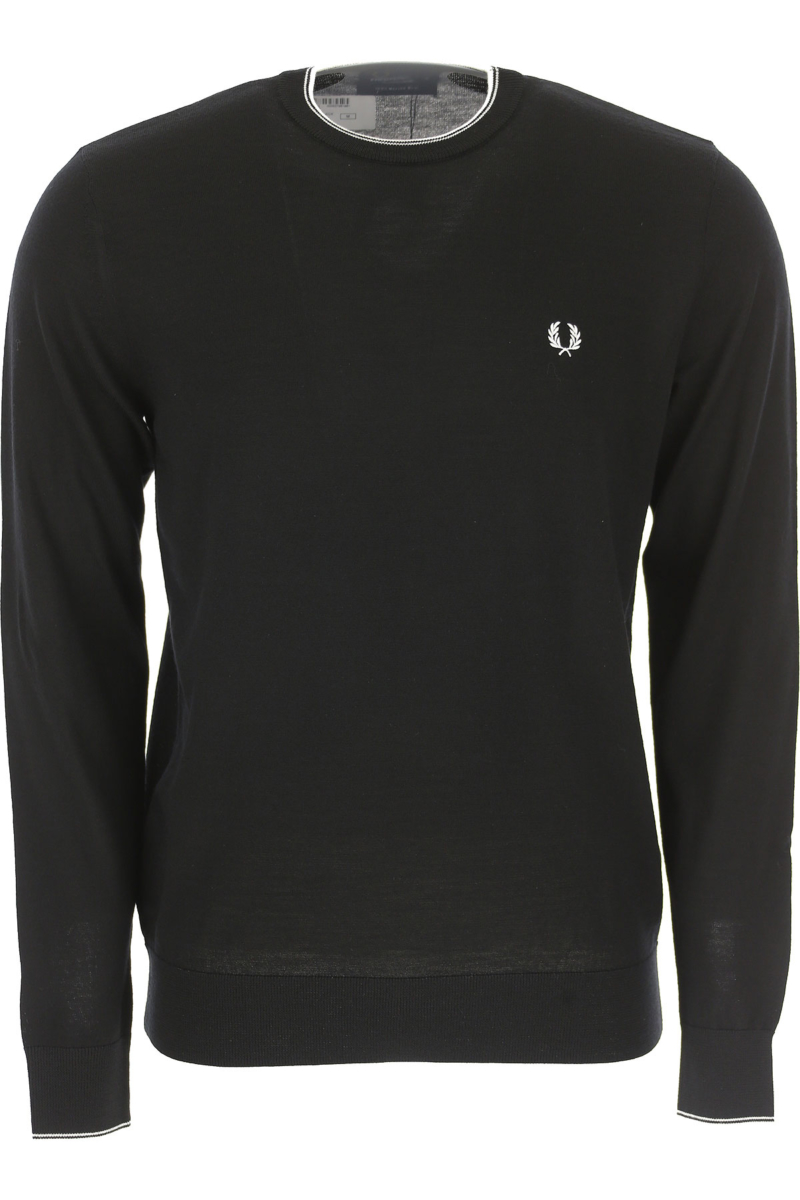 Fred Perry Sweater for Men Jumper Black Canada - GOOFASH - Mens SWEATERS