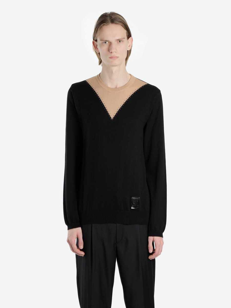 Fred Perry X Raf Simons Sweaters Black USA - GOOFASH - Mens SWEATERS