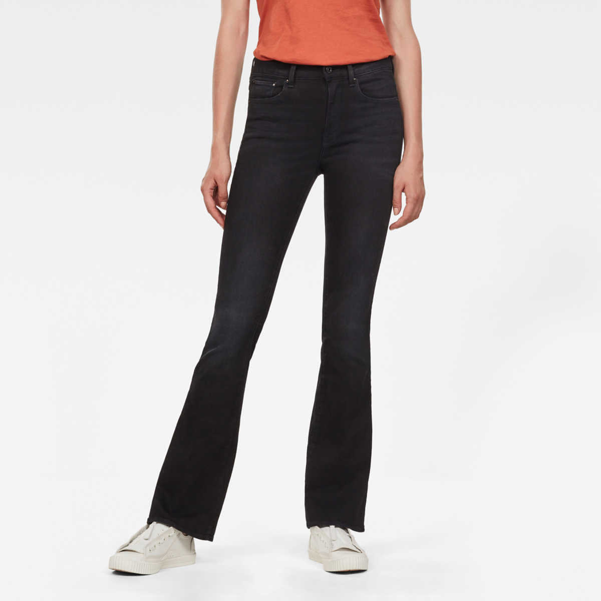 G-Star Jeans 3301 High Flare Jeans Black Female Canada - GOOFASH - Womens JEANS