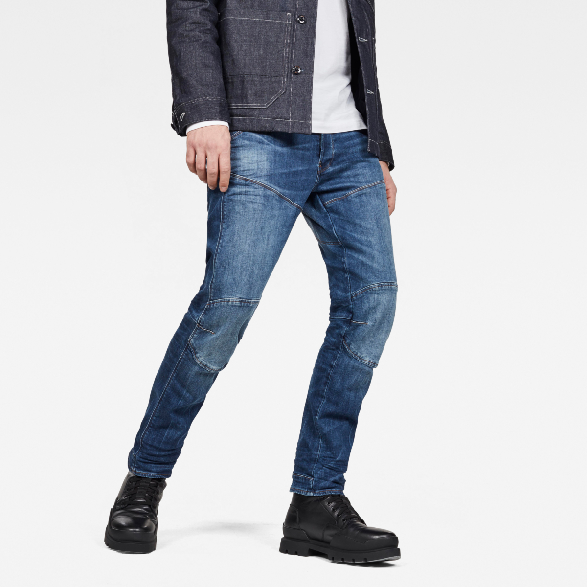 G-Star Jeans 5620 Straight Jeans Medium Blue Male Canada - GOOFASH - Mens JEANS