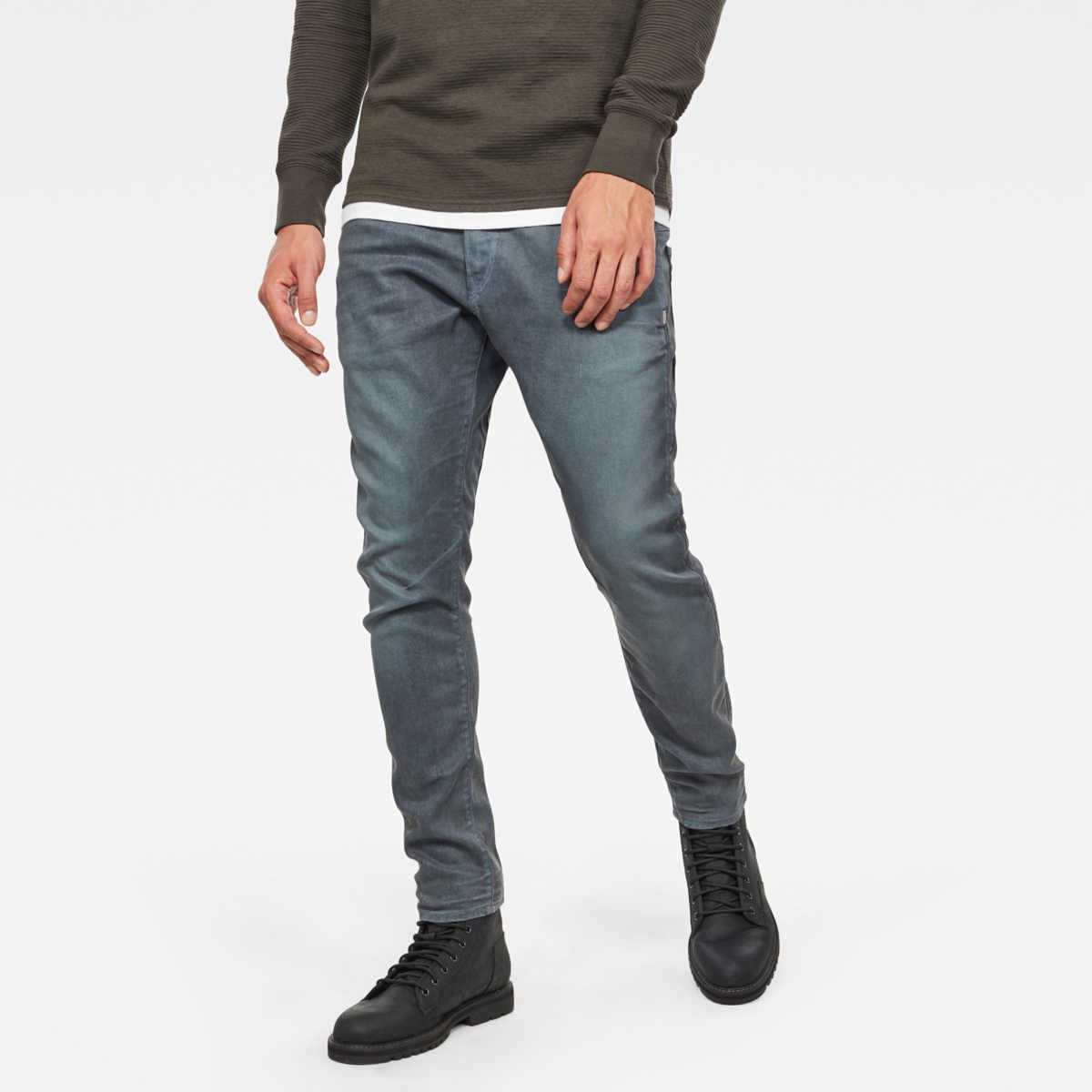 G-Star Jeans D-Staq 3D Skinny Jeans Grey Male Canada - GOOFASH - Mens JEANS