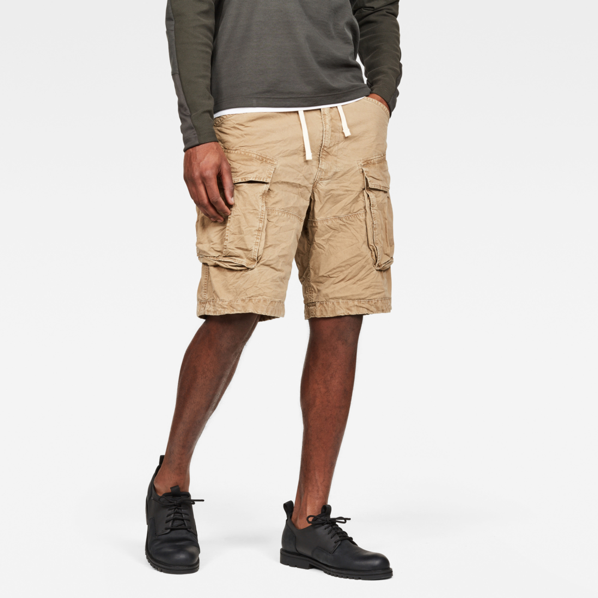 G-Star Shorts Rovic X-Relaxed Trainer Short Brown Male Canada - GOOFASH - Mens SHORTS