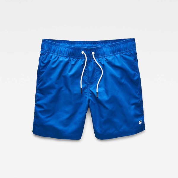 G-Star Swimwear Dirik Swimshorts Medium Blue Male Canada - GOOFASH - Mens SHORTS