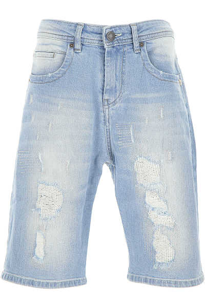Galliano Kids Shorts for Boys Denim Light Blue Canada - GOOFASH - Mens SHORTS