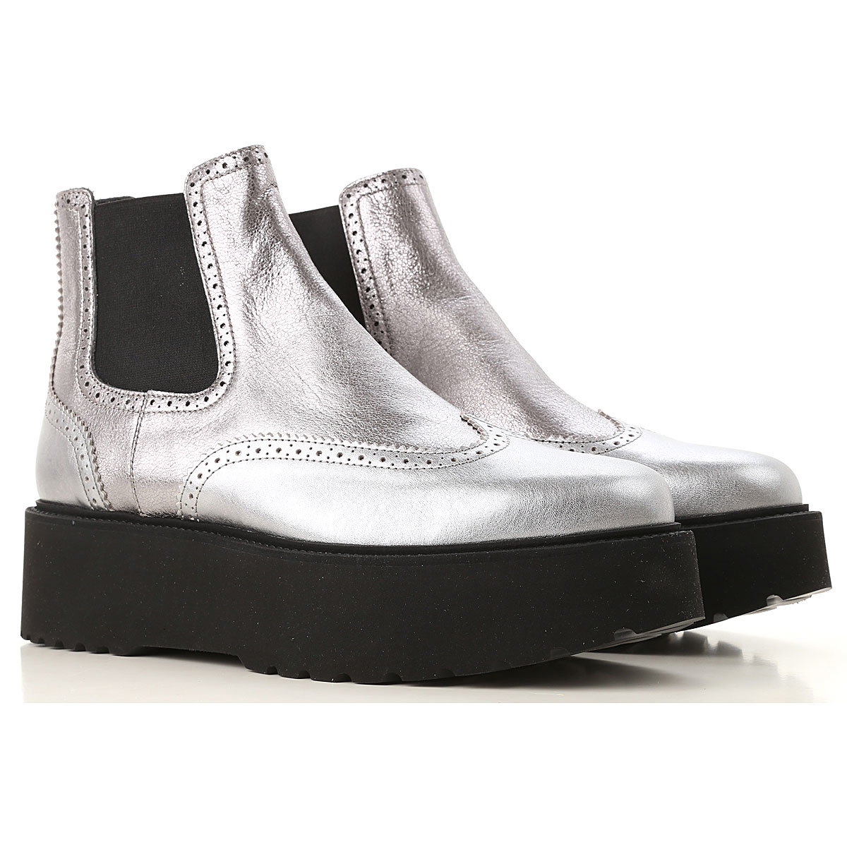 Hogan Chelsea Boots for Women Silver Canada - GOOFASH - Womens BOOTS