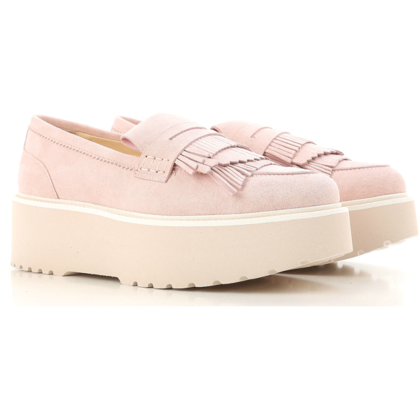 Hogan Loafers for Women Pink Canada - GOOFASH - Womens FLAT SHOES