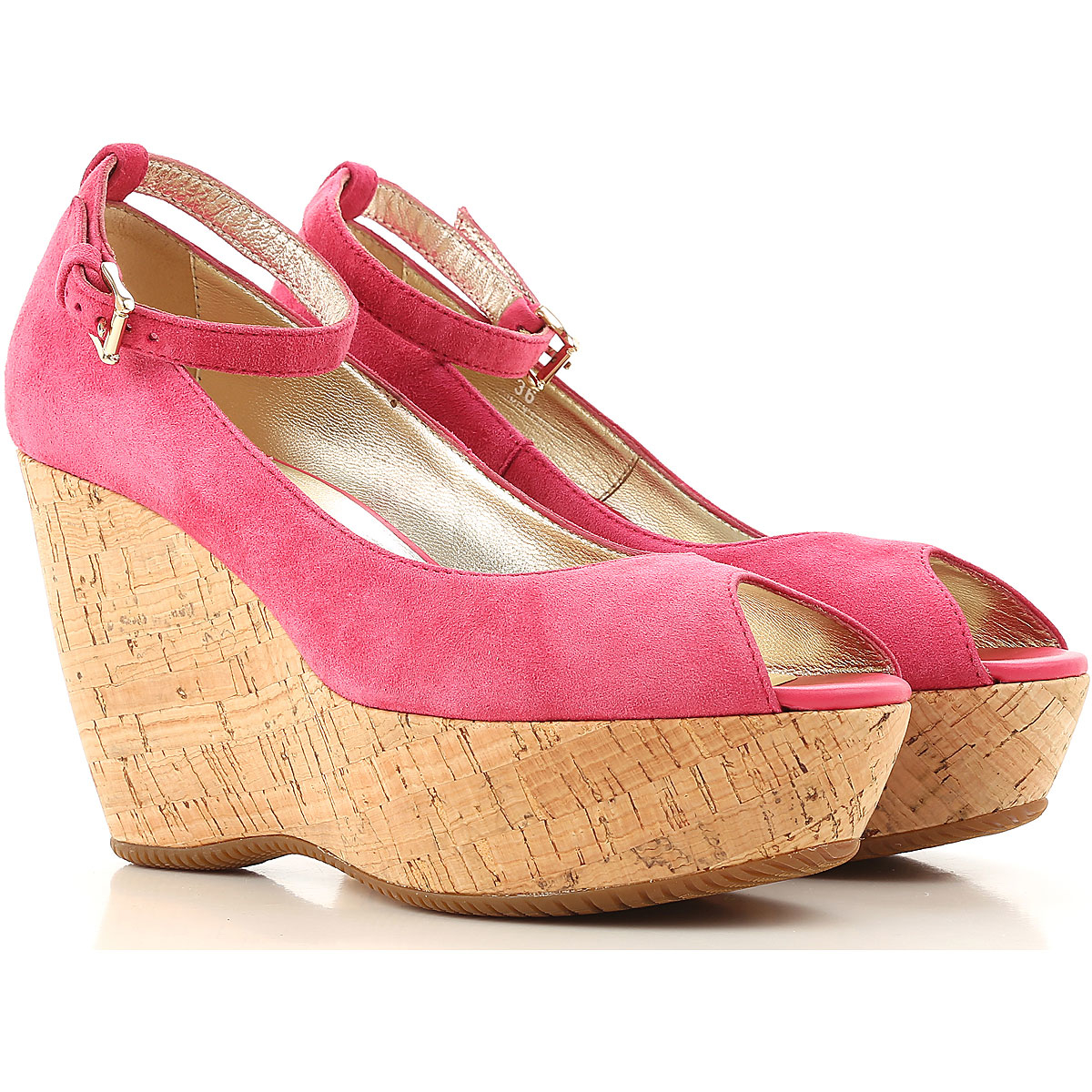 Hogan Wedges for Women in Outlet Fuchsia Canada - GOOFASH - Womens HOUSE SHOES