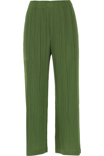 Issey Miyake Pants for Women Green Leaf Canada - GOOFASH - Womens TROUSERS