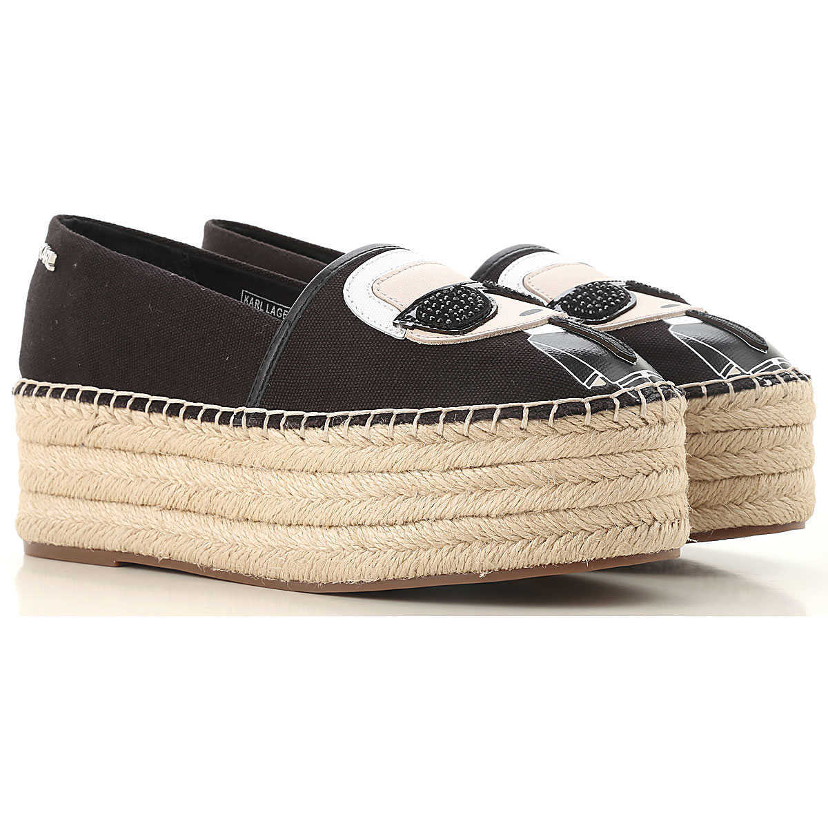 Karl Lagerfeld Wedges for Women Black Canada - GOOFASH - Womens HOUSE SHOES