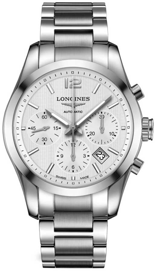 Longines Conquest Classic Automatic Men's Watch L2.786.4.76.6 Silver USA - GOOFASH - Mens WATCHES
