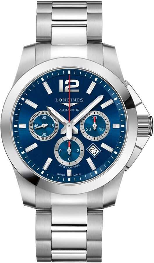 Longines Conquest Men's Watch on Sale L3.702.4.96.6 Blue USA - GOOFASH - Mens WATCHES