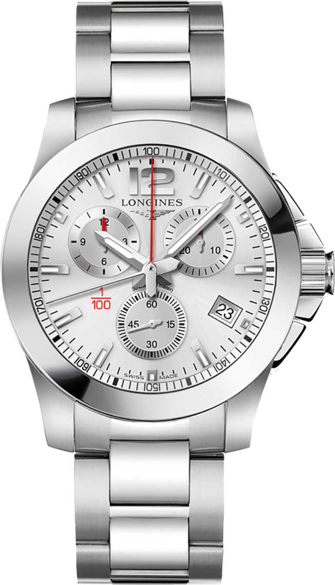 Longines Conquest Silver Dial Men's Watch L3.700.4.76.6 Silver USA - GOOFASH - Mens WATCHES