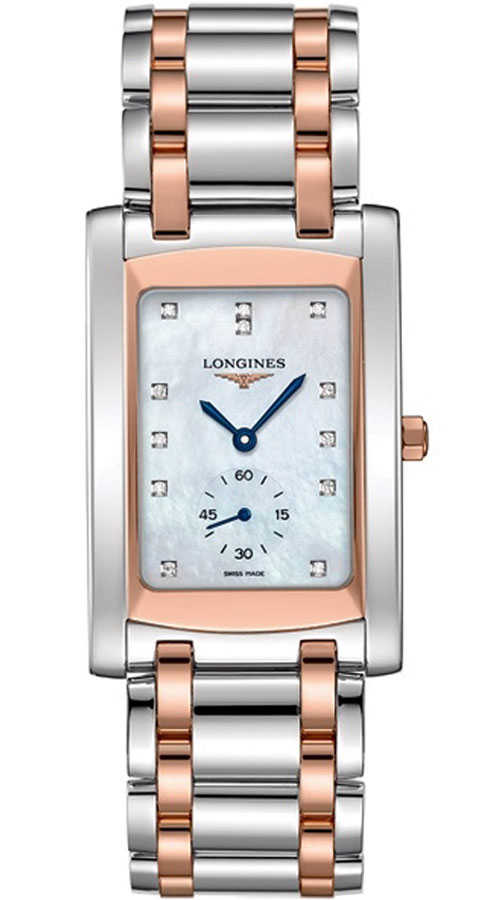 Longines DolceVita White Pearl & Diamond Dial Men's Watch L5.655.5.88.7 White Mother Of Pearl USA - GOOFASH - Mens WATCHES