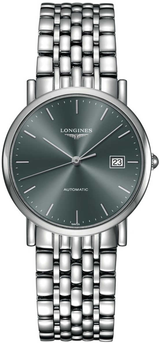 Longines Elegant Collection Automatic Women's Watch L4.809.4.72.6 Grey USA - GOOFASH - Womens WATCHES