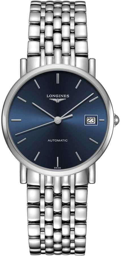 Longines Elegant Collection Blue Dial Women's Watch L4.809.4.92.6 Blue USA - GOOFASH - Womens WATCHES