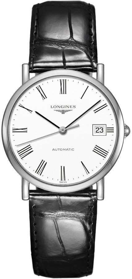 Longines Elegant Collection White Dial Women's Watch L4.809.4.11.2 White USA - GOOFASH - Womens WATCHES