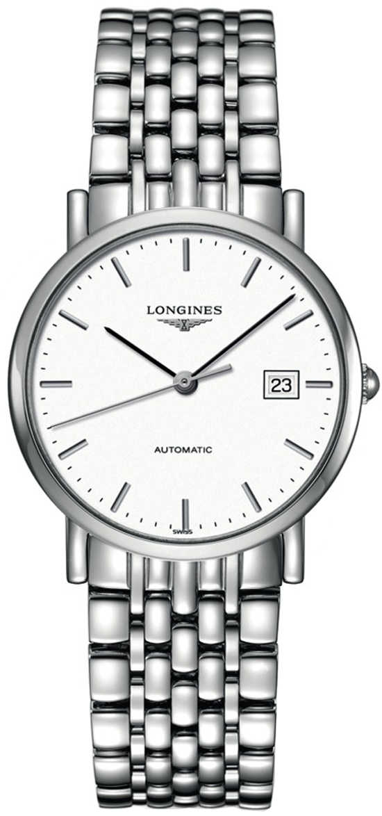 Longines Elegant Collection Women's Automatic Watch L4.809.4.12.6 White USA - GOOFASH - Womens WATCHES