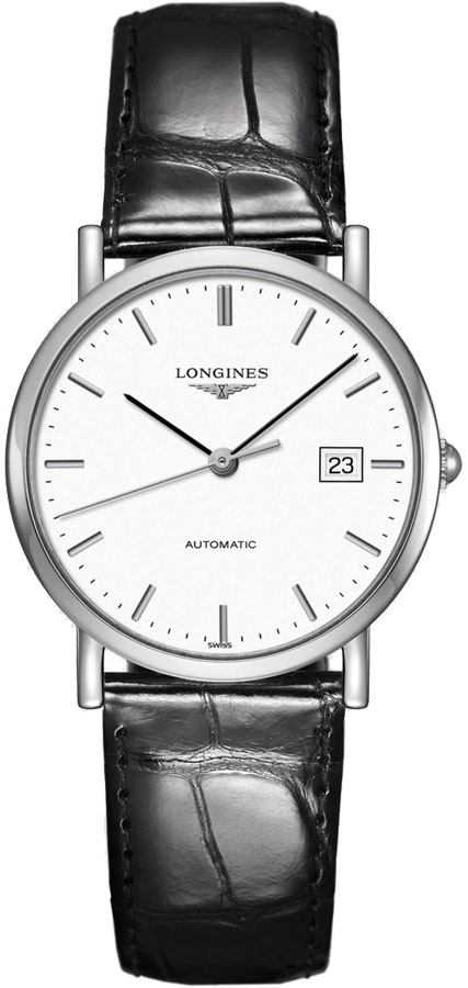 Longines Elegant Collection Women's Watch L4.809.4.12.2 White USA - GOOFASH - Womens WATCHES