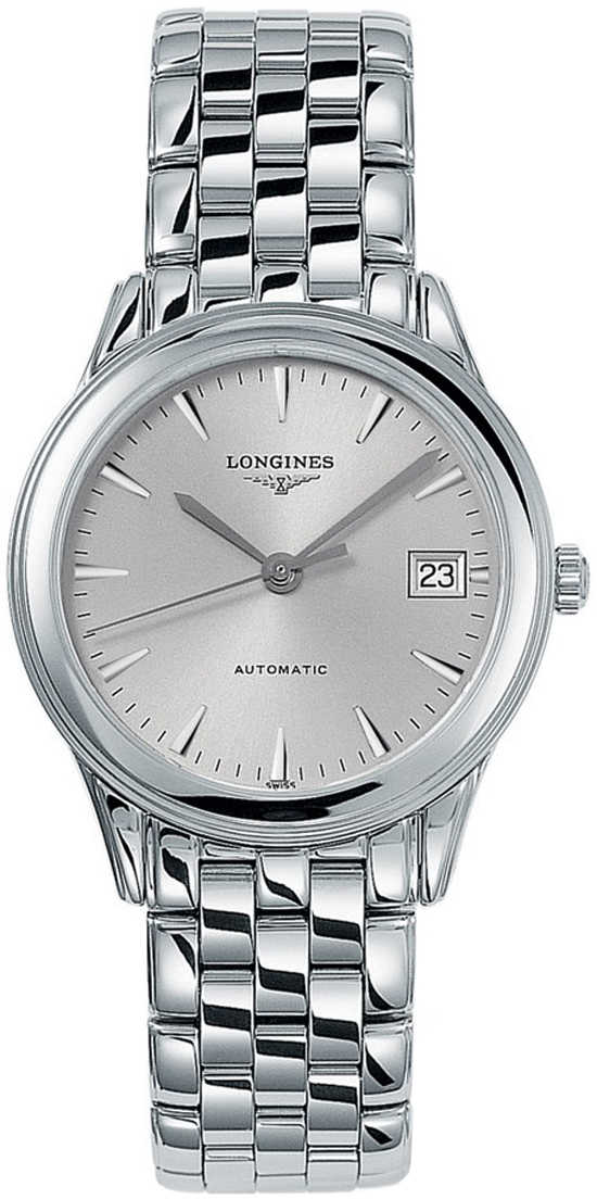 Longines Flagship Silver Dial Men's Automatic Watch L4.774.4.72.6 Silver USA - GOOFASH - Mens WATCHES