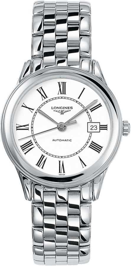 Longines Flagship White Dial Men's Watch L4.774.4.21.6 White USA - GOOFASH - Mens WATCHES
