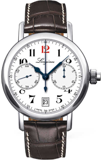 Longines Heritage Chronograph Anniversary Edition Men's Watch L2.775.4.23.3 White USA - GOOFASH - Mens WATCHES